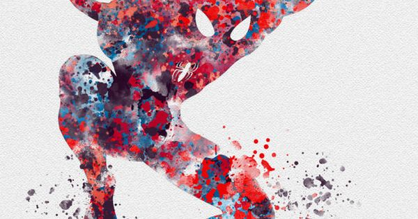 Spiderman Art Print 10 X 8 Illustration Superhero Home