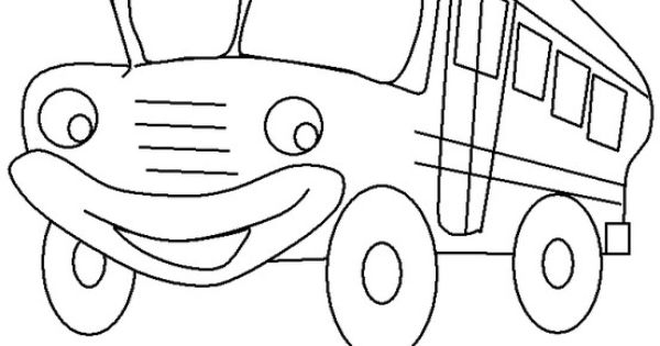 Wheels bus coloring pages ~ Wheels On The Bus Page Coloring Pages