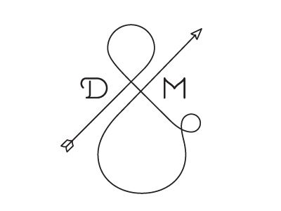 Love this ampersand monogram for an invitation suite or reception decor! (We
