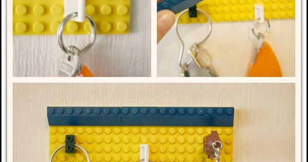Diy un porte cl mural original avec des lego diy by orelane pinterest lego bricolage - Porte cle mural original ...
