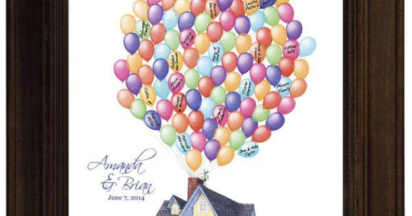 Alternative Wedding Gift Ideas : Ideas Disney Movie Up Themed Wedding Guest Book alternative Wedding ...