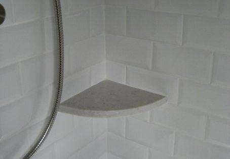 Silestone Lagoon Quartz Shower Corner Shelves With Beveled
