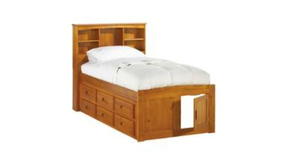 Badcock Kendall Collection Twin Captains Bed With 6 Drawer