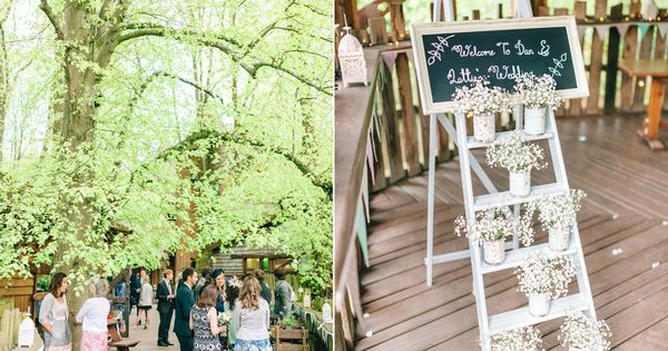 A Pretty Pastel Toned And Homemade Spring Wedding At Alnwick Treehouse Love My Dress Uk Wedding Blog Wedding Directory Alnwick Treehouse Wedding Treehouse Wedding Alnwick Treehouse