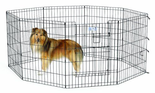 Outdoor Dog Pens Midwest Homes For Pets Exercise Pen For Pets With Split Max Lock Door 30inch Black Read More Reviews Of Th Large Dog Crate Dog Pens Pets