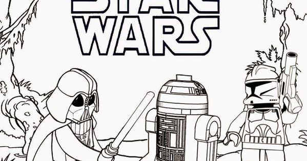 printable lego coloring pages wars silhouette