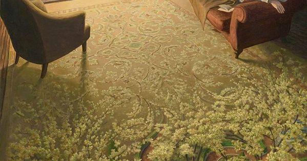 I dipinti surreali di rob gonsalves ecco 30 quadri che for Quadri illusioni ottiche