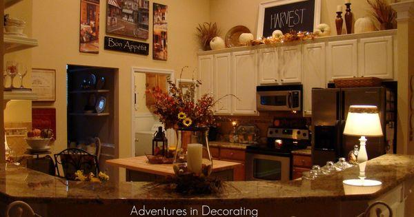Fall...countertop Decor, Lamp, Shelves, Tray