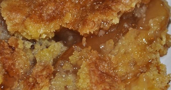 Caramel Apple Cobbler (Using cake mix) Would be delicious on a cool