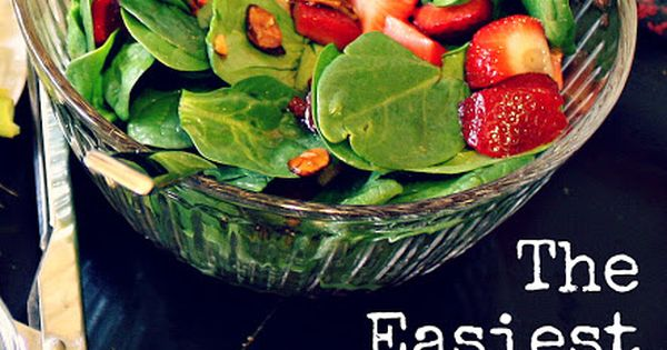 "Strawberry Spinach Salad - Yumm ""The Perfect Summer Salad"""