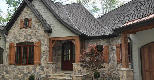 Green color with stone and wood for house exterior home for Best brand of paint for kitchen cabinets with impact martial arts wall nj