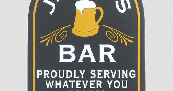Man Cave Nicknames : Personalized proudly serving wood pub sign signs
