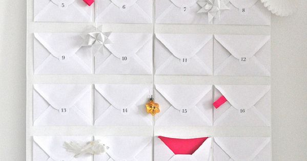 Envelope Advent Calendar Design Ideas, Pictures, Remodel and Decor