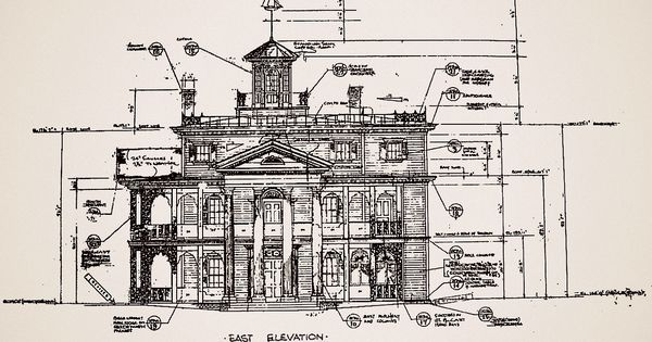 Blueprints For The Haunted Mansion At Disneyland