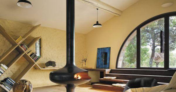 chemin e gaz contemporaine foyer ouvert centrale magmafocus focus extension maison. Black Bedroom Furniture Sets. Home Design Ideas