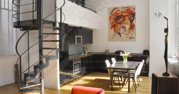 Photo dh107 spir 39 d co caisson escalier d 39 int rieur h lico dal au design contemporain for Escalier interieur contemporain