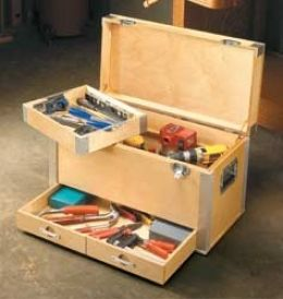 Toolbox Homemade Toolbox Constructed From Plywood And Sheetmetal