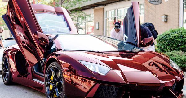 Chrome red Lamborghini Aventador.... Absolutely Beautiful Color....