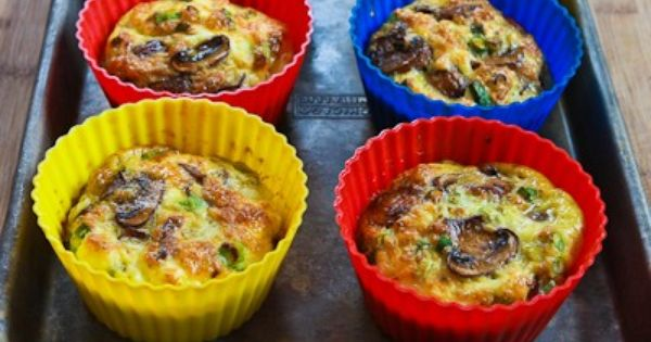Baked Mini-Frittata with Mushrooms, Cottage Cheese, and Feta   Cottage ...