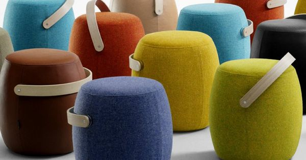 Upholstered Pouf Carry On By Offecct Colour Chairs