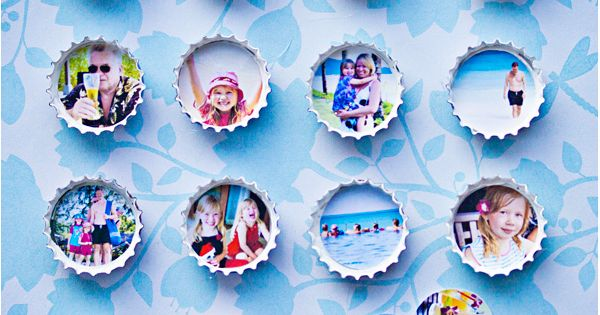 Craft Ideas / DIY bottle cap photo magnets