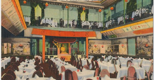 Ruby Foo S Chinese Restaurant West 52nd Street New York City 1941 City Postcard New York City City
