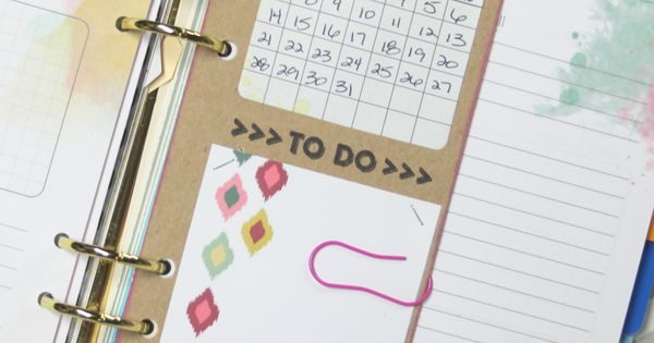 removable daily to-do divider /