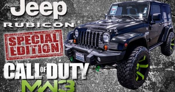 2012 Call Of Duty Modern Warfare 3 Jeep Wrangler Rubicon
