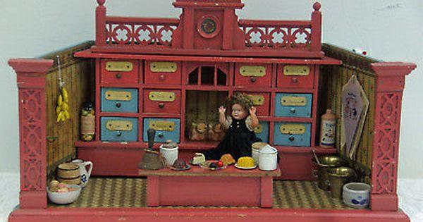 Schonherr Kaufmannsladen Nurnberg Um 1900 Mit Bildern Kaufmannsladen Puppenhaus Kinderkaufladen