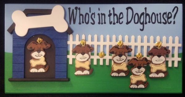 Who S In The Doghouse Plaque For Families And Work Places Dog