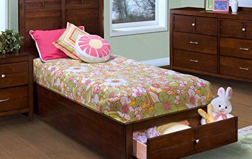 Ncf Furniture Kirkwood Full Storage Bed In Burnished Cherry With