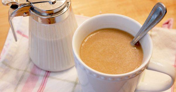 Caramel Vanilla Creamer made with homemade Caramel Sauce! Gotta try!