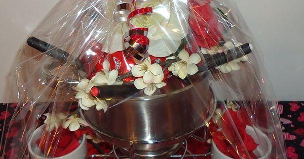 Fondue Pot Valentine Gift Basket Gift Baskets