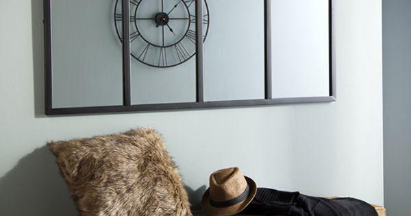 Miroir atelier verri re horizontale rectangulaire en m tal for Fenetre horizontale chambre