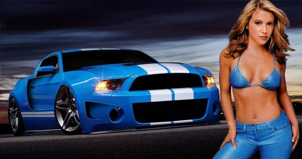 Sexy alyssa milano american muscle car mustang shelby - Muscle car girl wallpaper ...