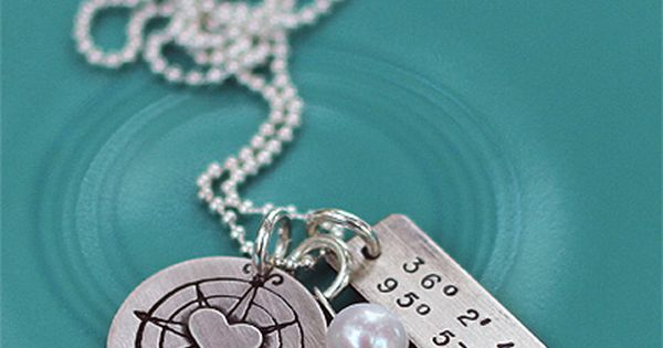 Long Distance Relationship Gift: This hand-crafted sterling silver necklace is all about