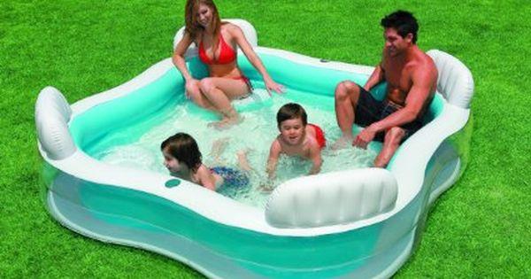 Amazon Com Intex Swim Center Family Lounge Inflatable Pool 90 X