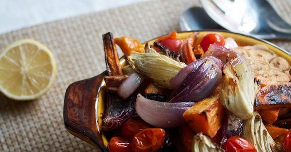 Roasted Vegetables with Pomegranate Vinaigrette | Recipes | Pinterest ...