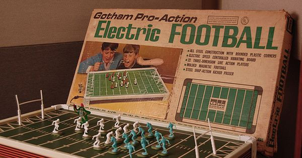 Electric Football. I remember it being very noisey. vintage toys from the