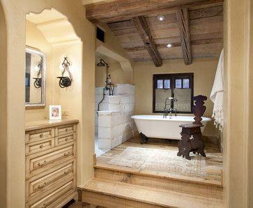 No Door Shower Design Ideas Pictures Remodel And Decor Italian Bathroom Design Rustic Italian Decor Rustic Master Bathroom