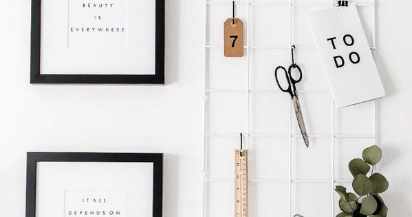 Ikea hack grid moodboard using barso trellis diy home for Ikea barso trellis
