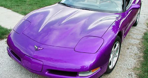 Purple Pearl 95u 6 Speed Coupe Black Interior Blue Led S Carbon Fiber Interior Under Hood Description From Corvettefo Purple Purple Paint Purple Car