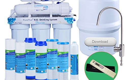 Pureplus Easy Installation 5 Stage Ultra Safe Reverse Osmosis Drinking Water Filter System Ro Syst Water Filtration System Reverse Osmosis Water Filters System