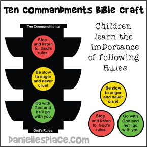 Ten Commandment Trafic Sign Craft For Kids From Www