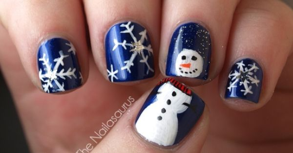 21 adorable festive nail styles for the holidays ...........click here to find