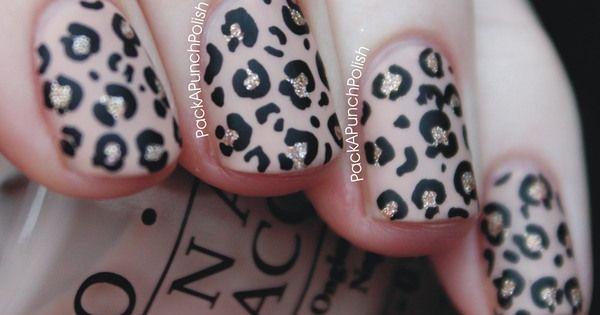 Leopard print nailart