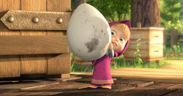 كرتون ماشا والدب ماشا وسر بيضه كندر السحرية العملاقة افلام كرتون Enjoyment Youtube