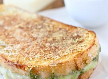 Parmesan Crusted Pesto Grilled Cheese Sandwich | Recipe | Cheese ...