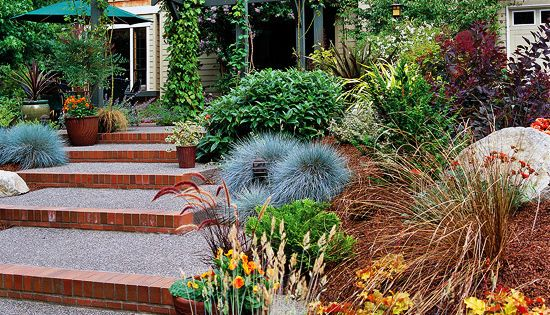 15 ways to use ornamental grasses in your landscape for Front yard ornamental grasses