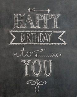 Happy Birthday Tumblr Frases 黒板チョークアート 黒板レタリング